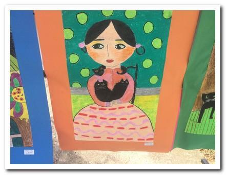 Necla öğretmenimizin öğrencilerinin yaptığı birbirinden güzel resimlerden oluşan sergimiz