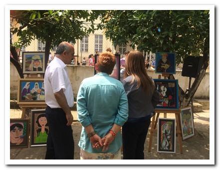 Narlıdere Kaymakamımız Osman Aslan CANBABA resim sergimizi geziyor